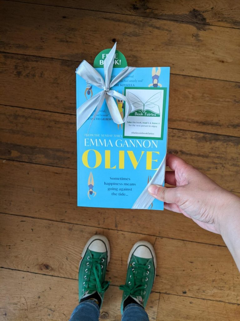 Olive by Emma Gannon hidden by UK book fairies in London