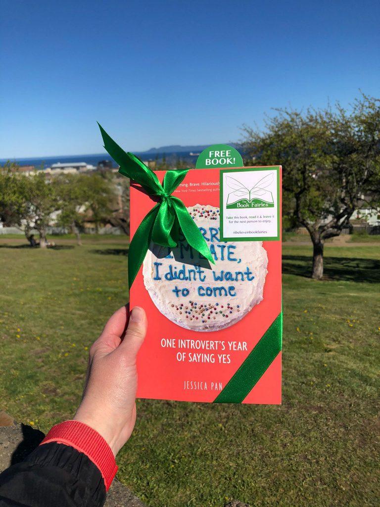 Book fairies in North America hide copies of Sorry I'm Late I Didn't Want To Come - a park in D.C.