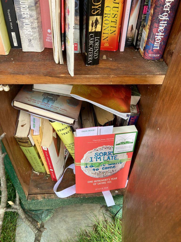 Book fairies in North America hide copies of Sorry I'm Late I Didn't Want To Come - mini book share in Cincinnati