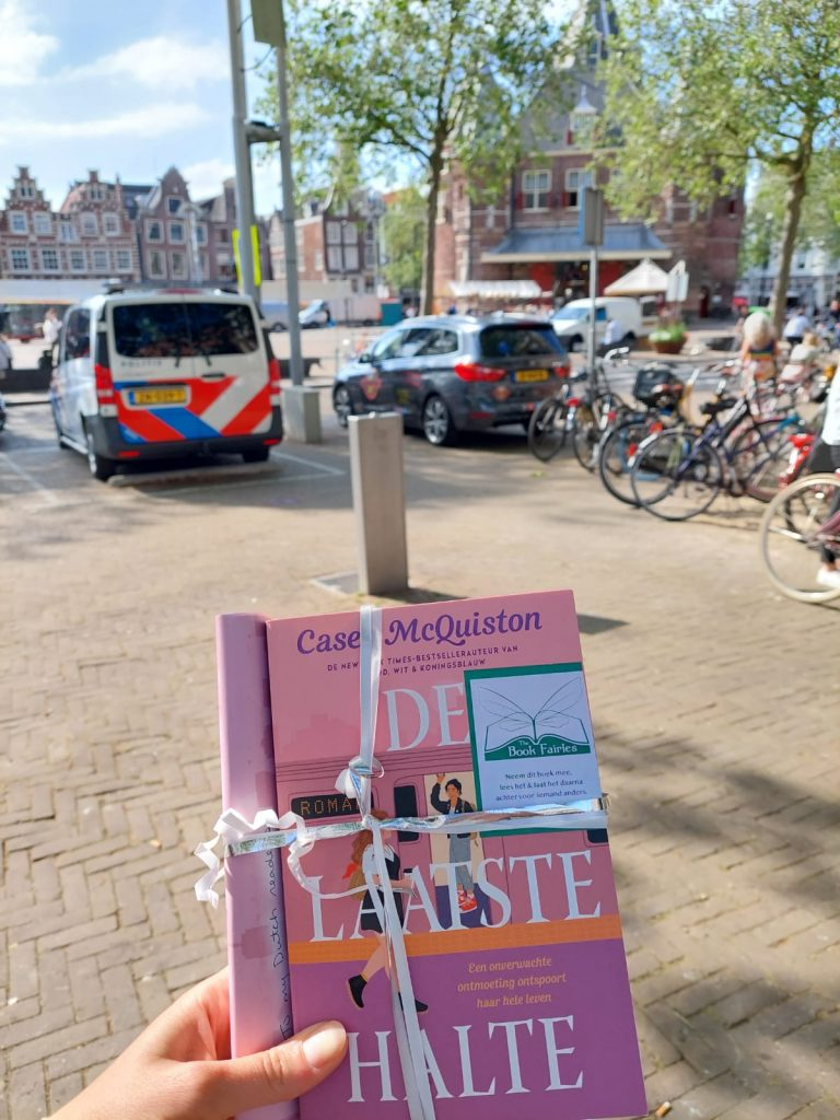 The Book Fairies in the Netherlands shared De Laatste Halte by Casey McQuiston at a windmill
