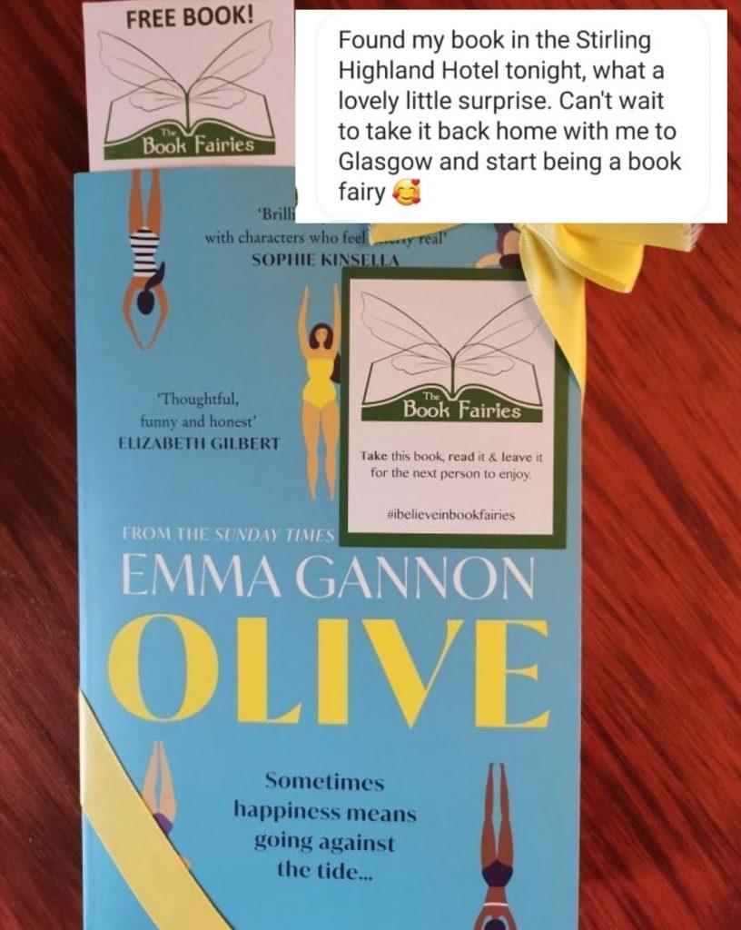 Olive by Emma Gannon hidden by UK book fairies stirling book finder