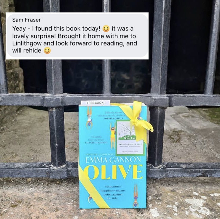 Olive by Emma Gannon hidden by UK book fairies book found linlithgow