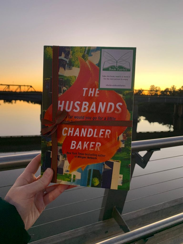 Book Fairies in Australia shared copies of The Husbands by Chandler Baker at a bridge