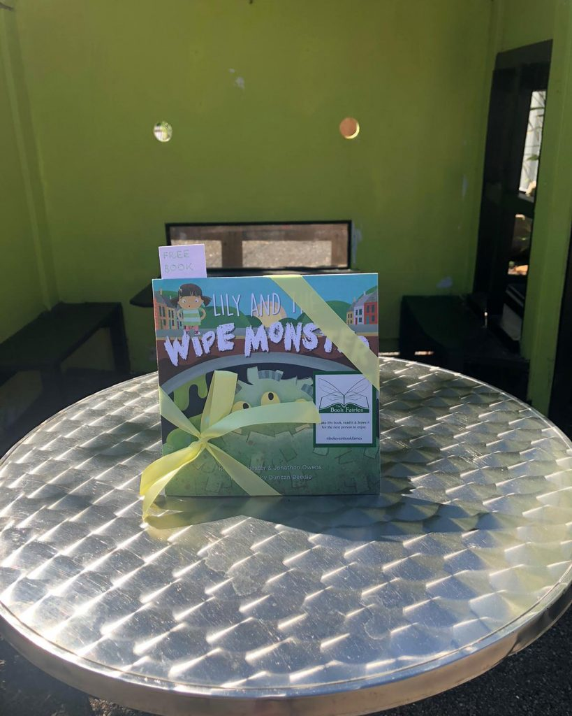 Lily and the Wipe Monster joins The Book Fairies on the swings