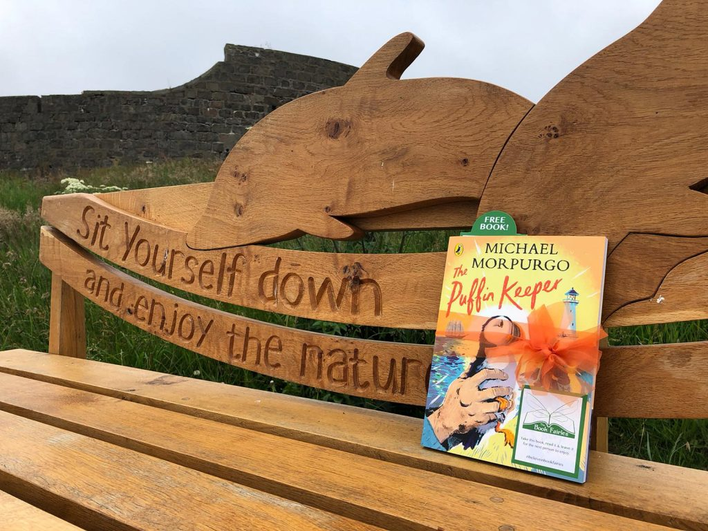 The Puffin Keeper by Michael Morpurgo is hidden by The Book Fairies in Aberdeen