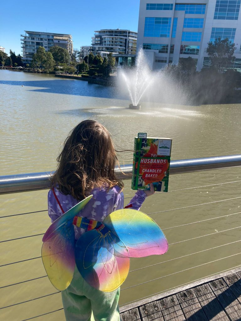 Book Fairies in Australia shared copies of The Husbands by Chandler Baker mini book fairy