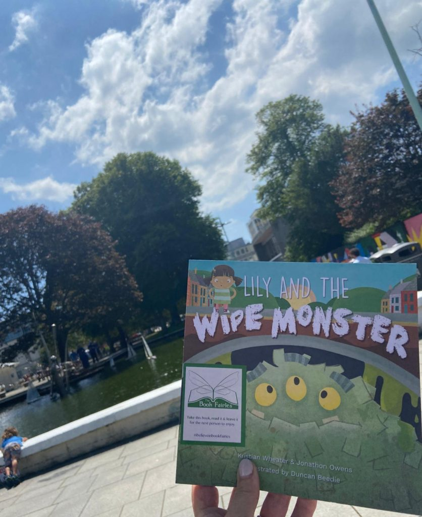 Lily and the Wipe Monster joins The Book Fairies at a playground