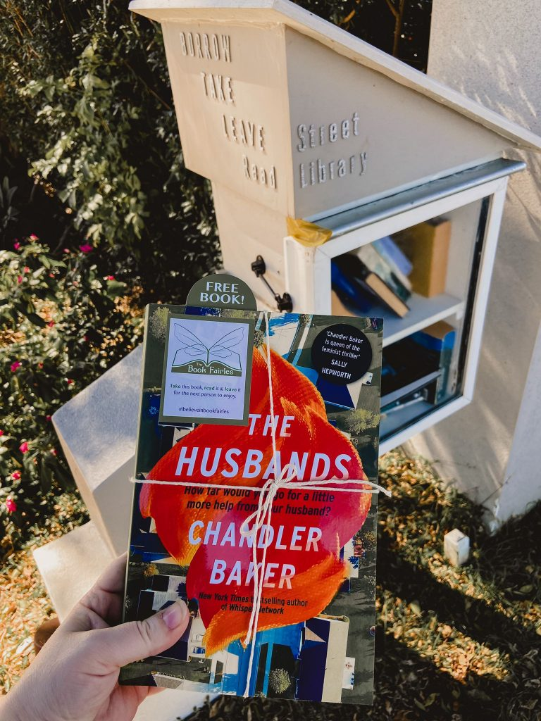 Book Fairies in Australia shared copies of The Husbands by Chandler Baker at a street library QLD