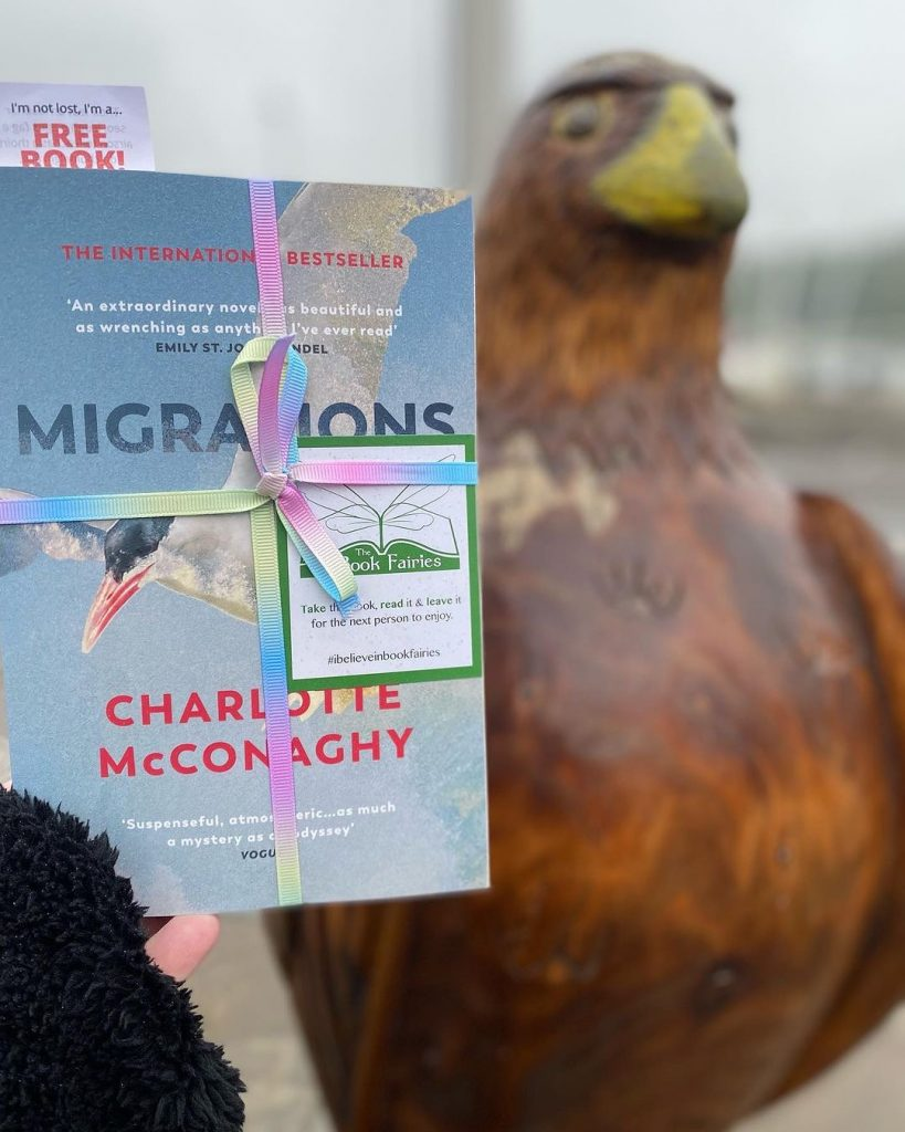 Book Fairies share copies of Migrations by Charlotte McConaghy published by Vintage Books on the Isle of Lewis