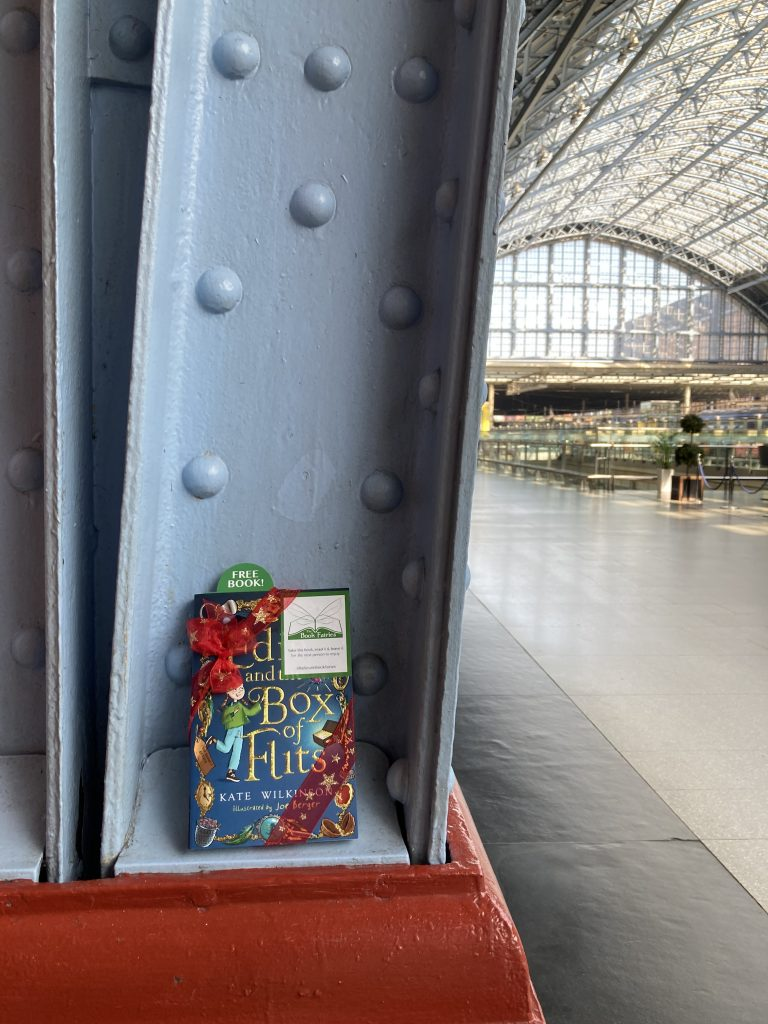 Edie and the Box of Flits hidden by The Book Fairies at St Pancras