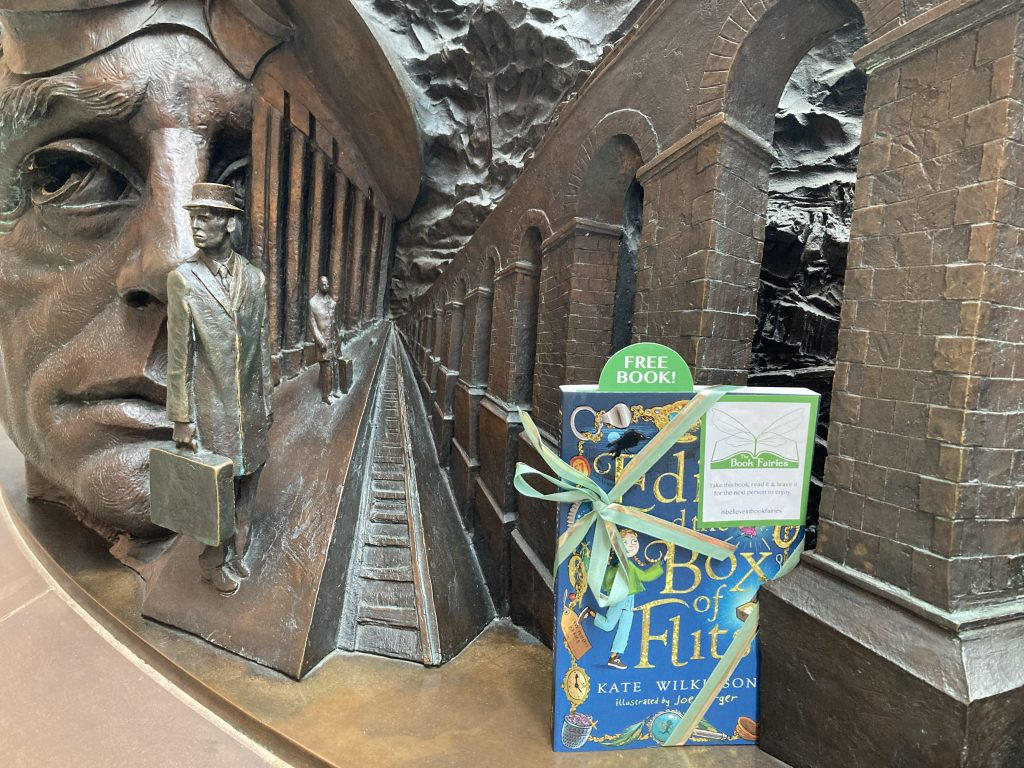 Edie and the Box of Flits hidden by The Book Fairies at St Pancras International