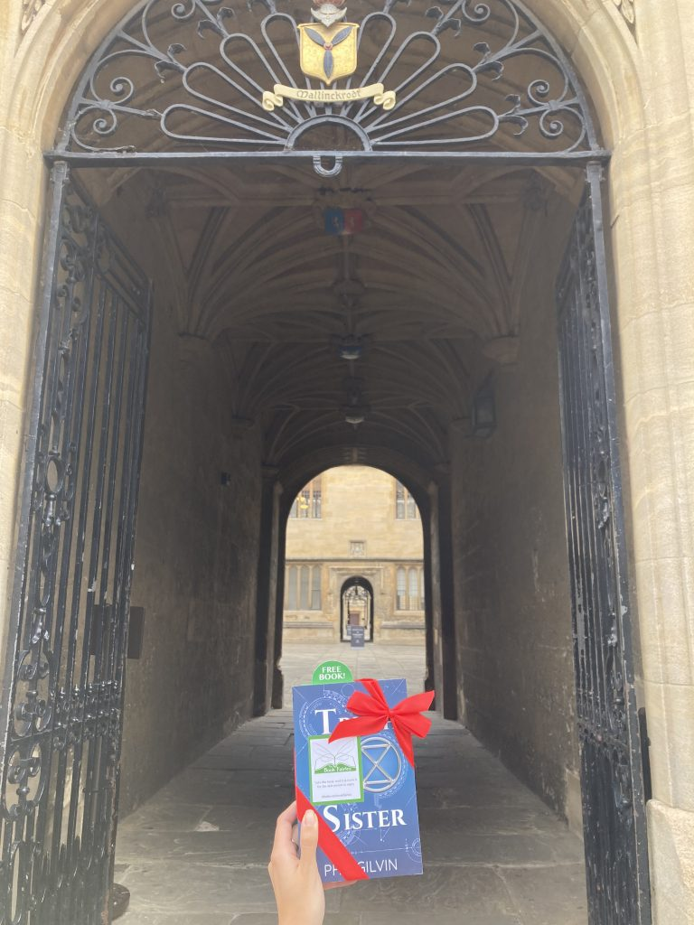 Truth Sister by Phil Gilvin hidden by Book Fairies UK in Oxford university colleges