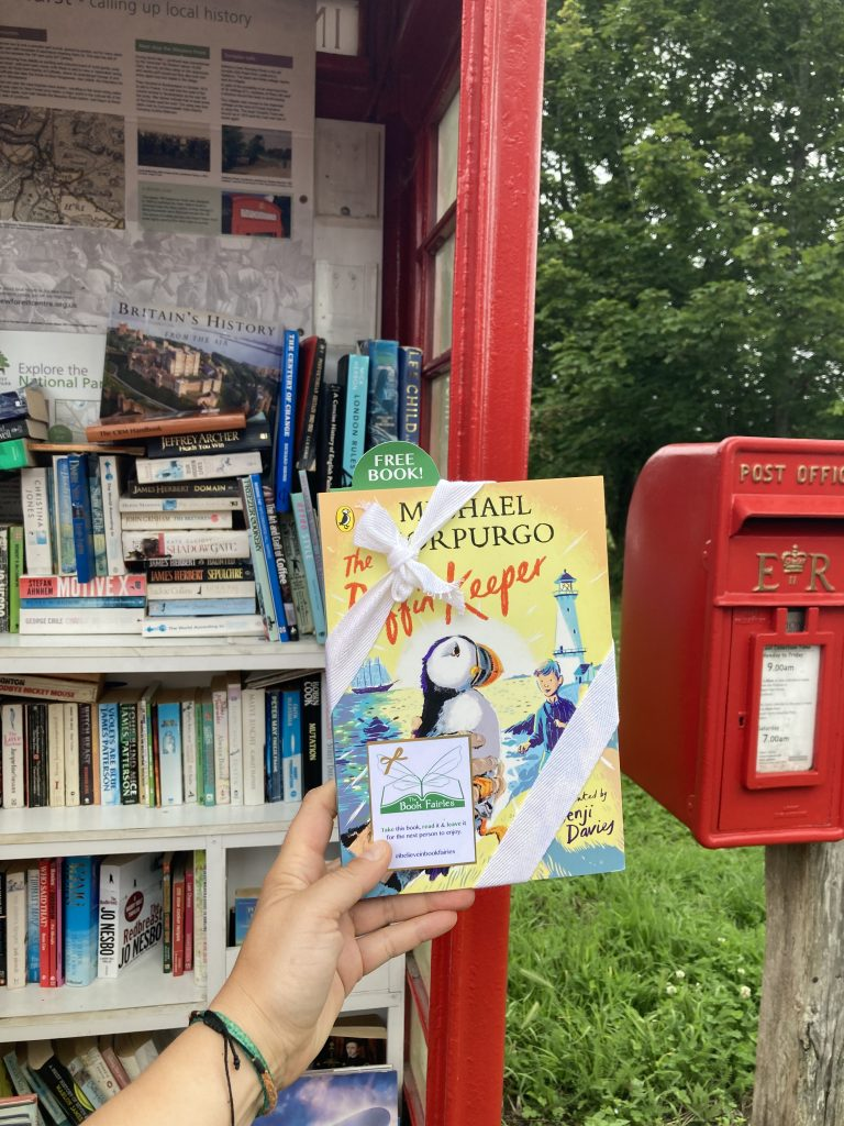 The Puffin Keeper by Michael Morpurgo is hidden by The Book Fairies in a book swap