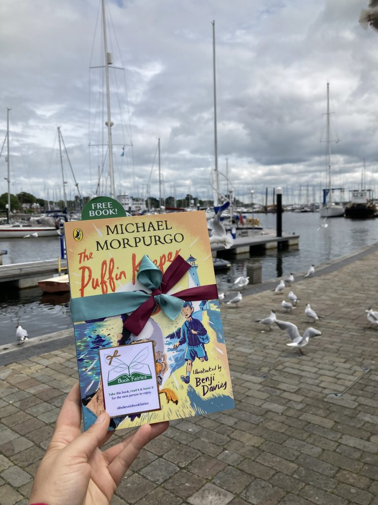 The Puffin Keeper by Michael Morpurgo is hidden by The Book Fairies - in the harbour