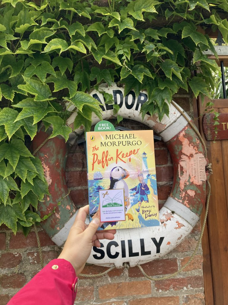 The Puffin Keeper by Michael Morpurgo is hidden by The Book Fairies at the seaside