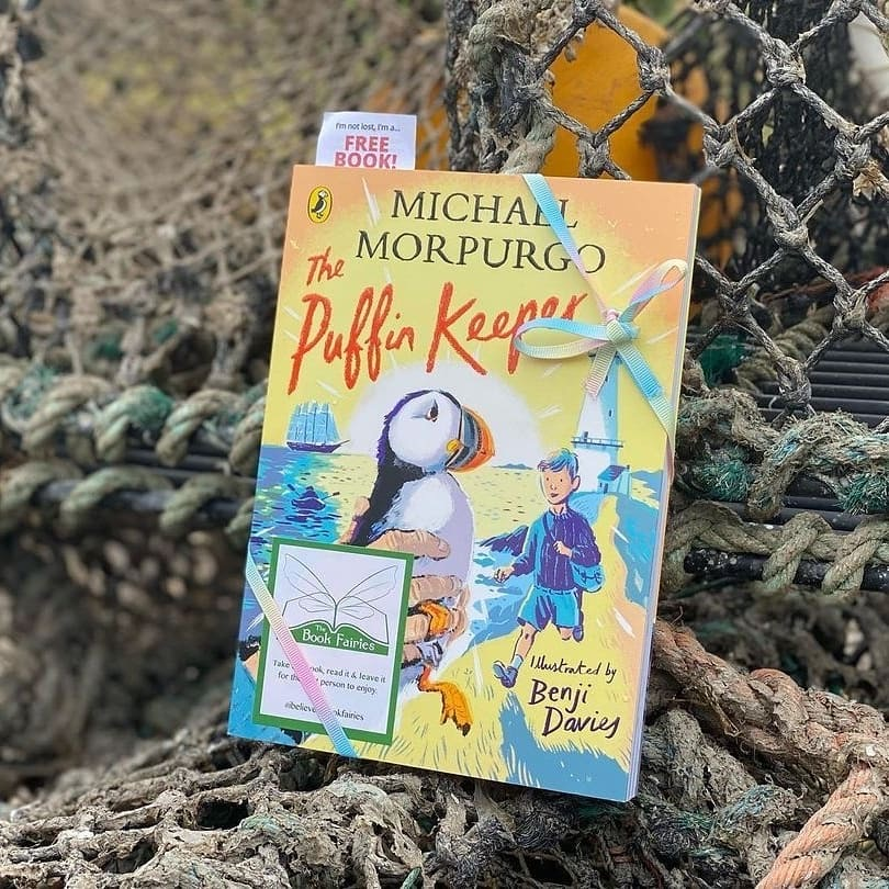The Puffin Keeper by Michael Morpurgo is hidden by The Book Fairies in Scotland