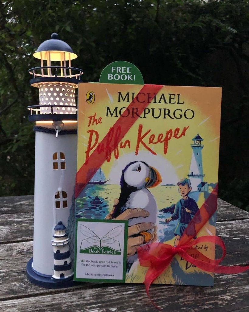 The Puffin Keeper by Michael Morpurgo is hidden by The Book Fairies in Glasgow