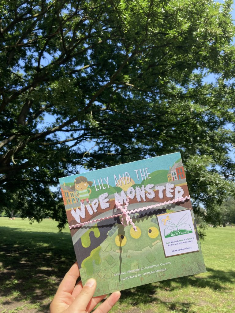 Lily and the Wipe Monster joins The Book Fairies in a London park