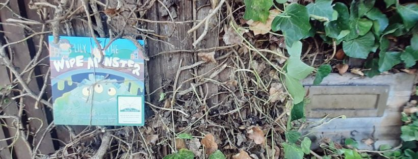 Lily and the Wipe Monster joins The Book Fairies in a hedge