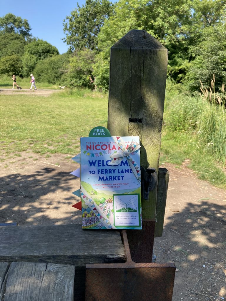 Welcome to Ferry Lane Market with The Book Fairies hiding copies in the park
