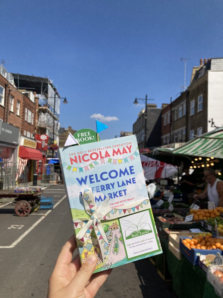 Welcome to Ferry Lane Market with The Book Fairies hiding copies in London