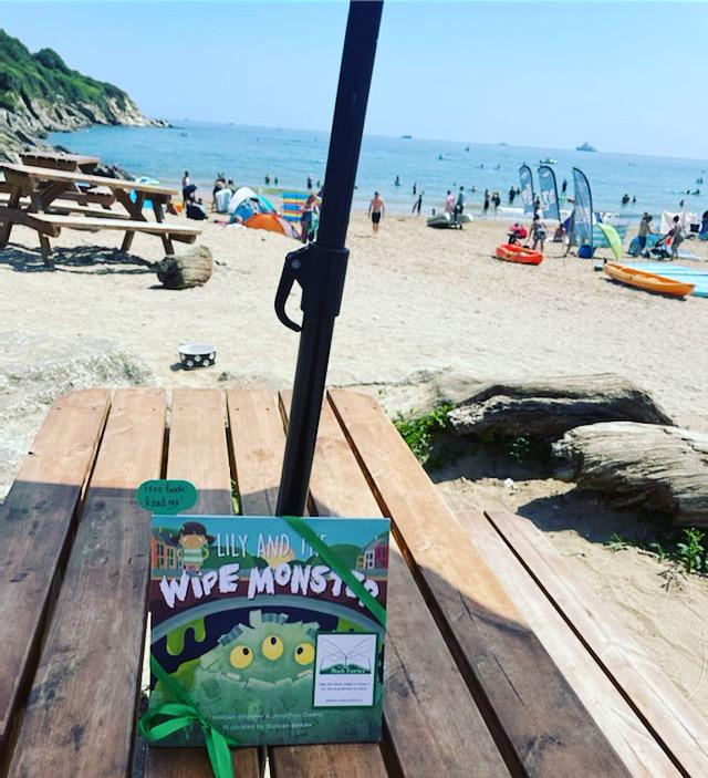 Lily and the Wipe Monster joins The Book Fairies at a Cornish Beach