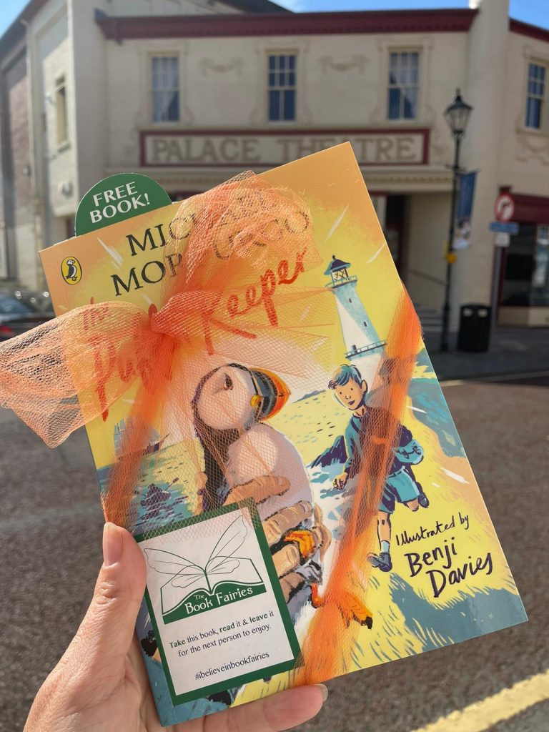 The Puffin Keeper by Michael Morpurgo is hidden by The Book Fairies in Norwich