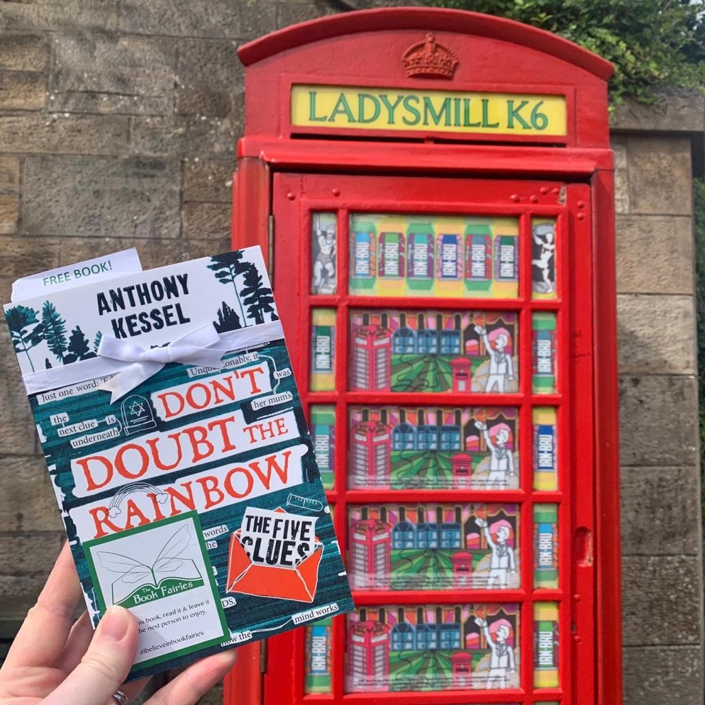 The Five Clues by Anthony Kessel hidden by book fairies in Worcestershire