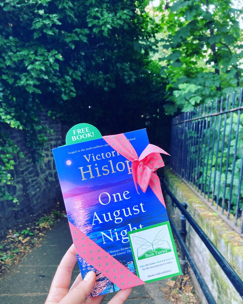 Book Fairies leave copies of One August Night by Victoria Hislop in London