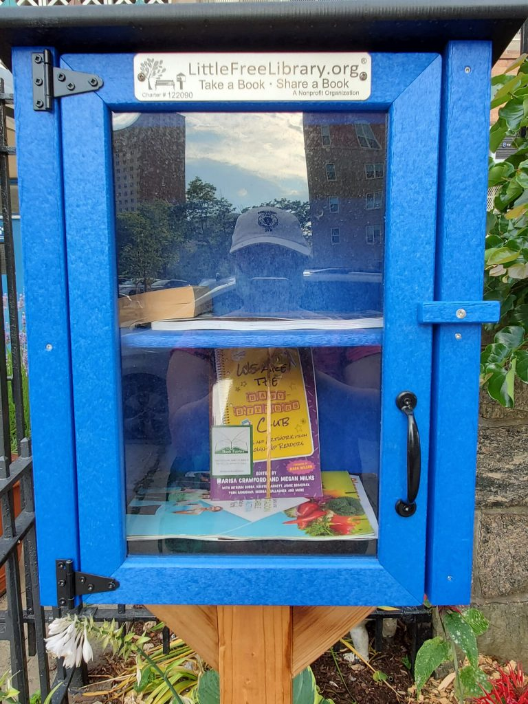 Book Fairies in the US share copies of We Are The Babysitter's Club in a little free library