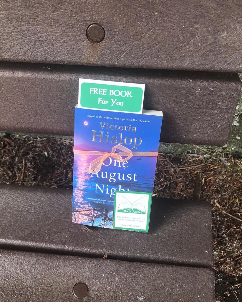 Book Fairies leave copies of One August Night by Victoria Hislop in West Lothian