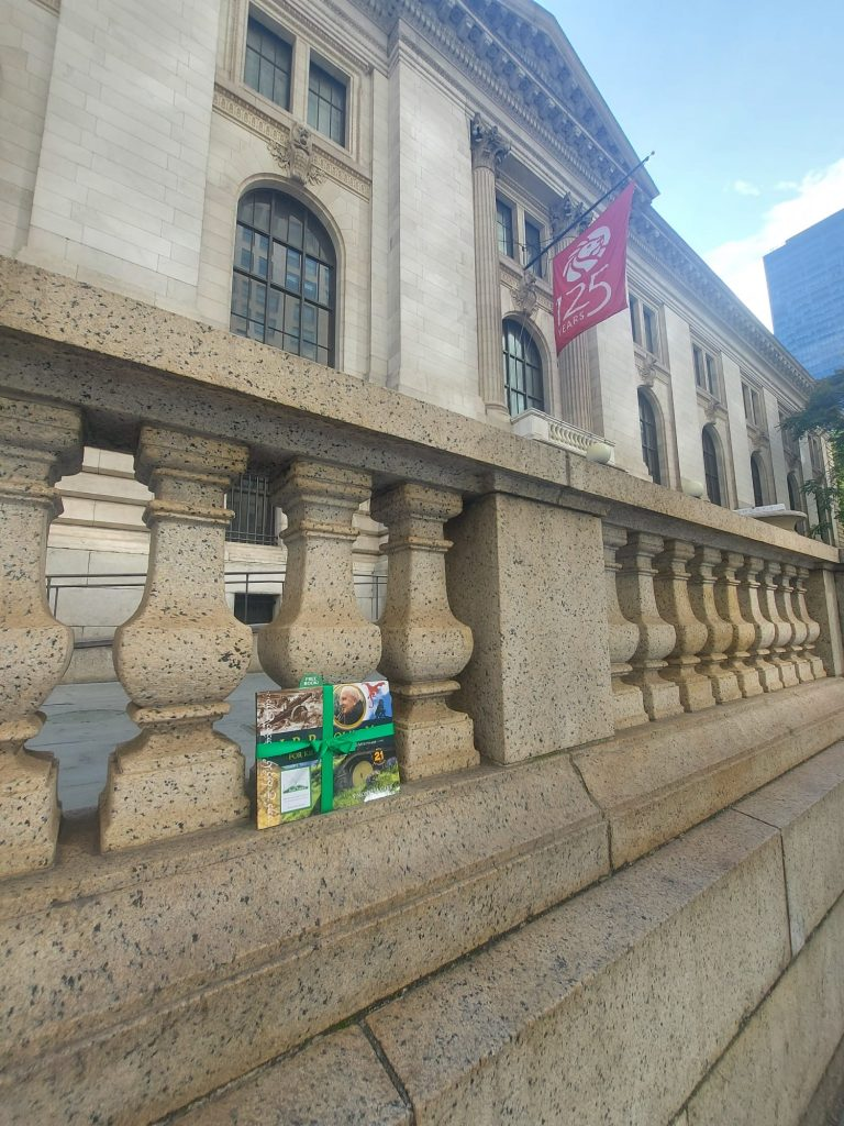 The Book Fairies share copies of J. R. R. Tolkien For Kids at NY Public Library