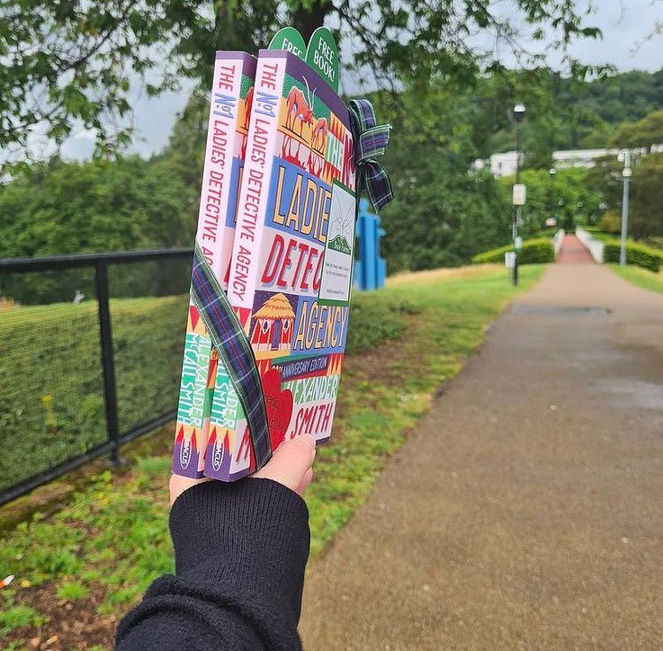 The Book Fairies and Alexander McCall Smith celebrate Friendship Day in Stirlingshire