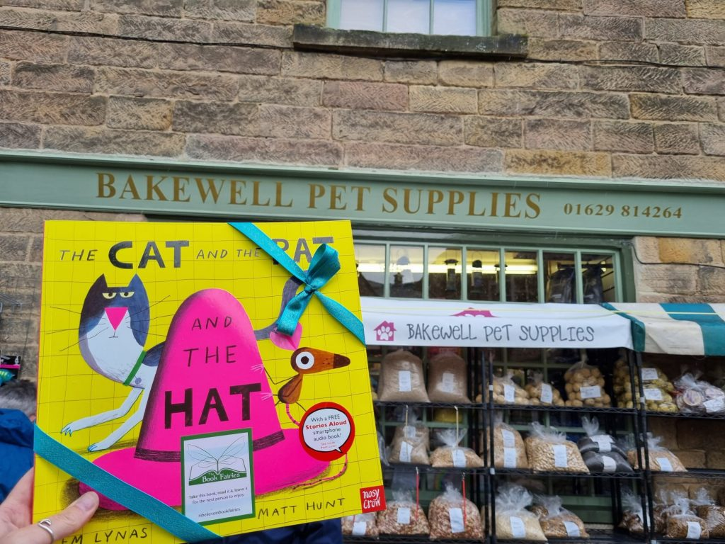 The Cat The Rat And The Hat hidden by book fairies in Bakewell Derby