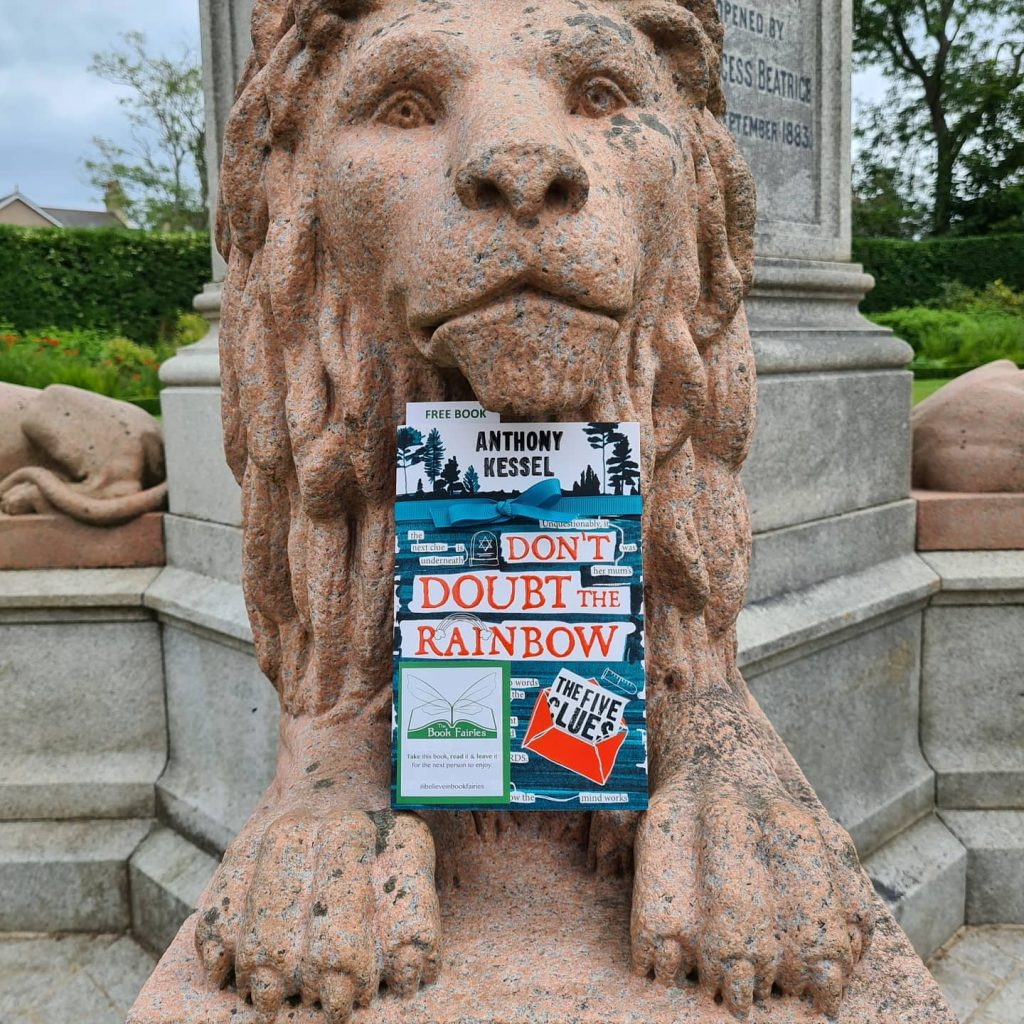The Five Clues by Anthony Kessel hidden by book fairies in Edinburgh