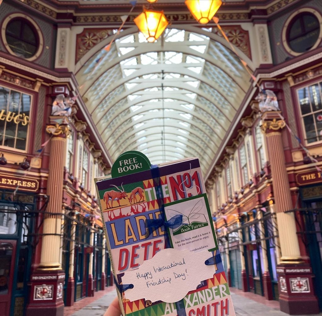 The Book Fairies and Alexander McCall Smith celebrate Friendship Day at Leadenhall Market