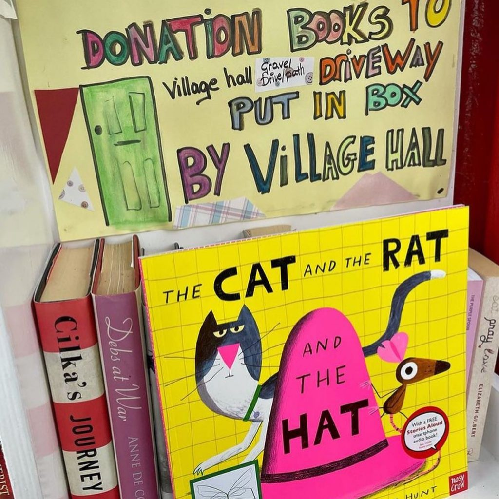 The Cat The Rat And The Hat hidden by book fairies at a book swap