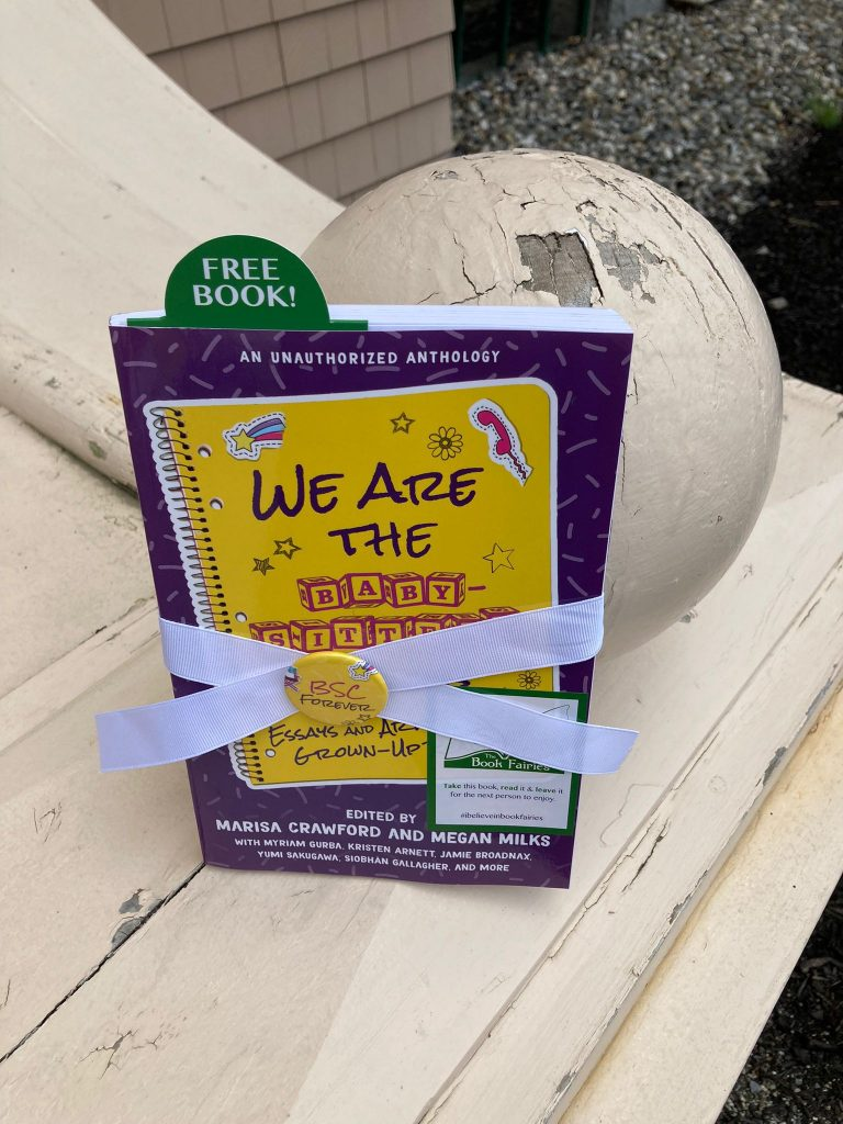 Book Fairies in the US share copies of We Are The Babysitter's Club at an icecream parlour