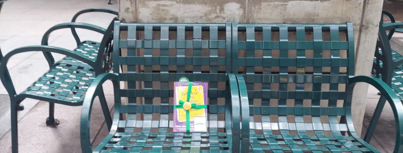 Book Fairies in the US share copies of We Are The Babysitter's Club in Union Square NYC