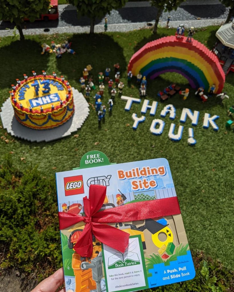 LEGOCity books hidden by book fairies at LEGO locations NHS thank you