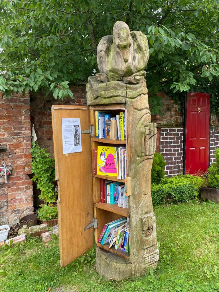 The Cat The Rat And The Hat hidden by book fairies at a little library