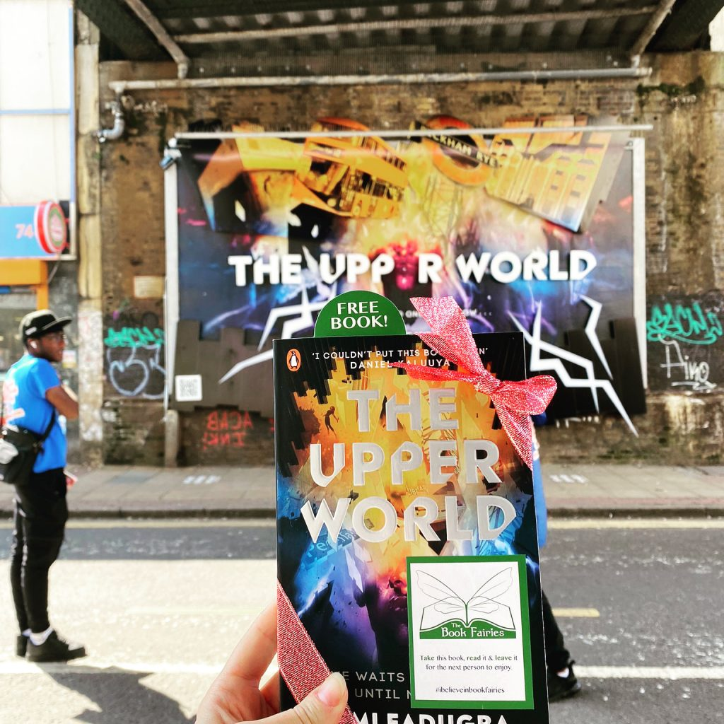 Book Fairies follow the plot of The Upper World by Femi Fatugba at a display