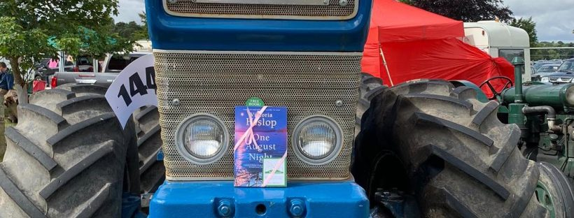 Book Fairies leave copies of One August Night by Victoria Hislop at a farm show