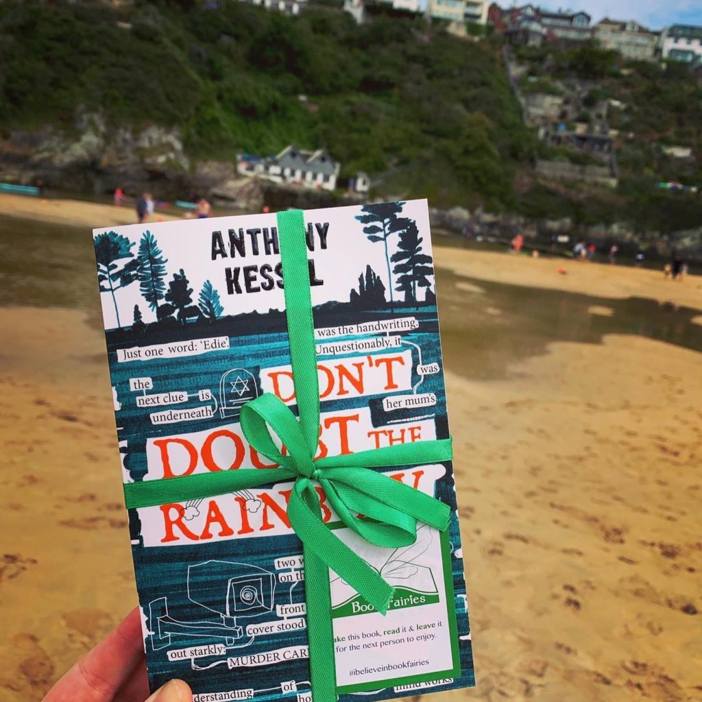 The Five Clues by Anthony Kessel hidden by book fairies in Cornwall