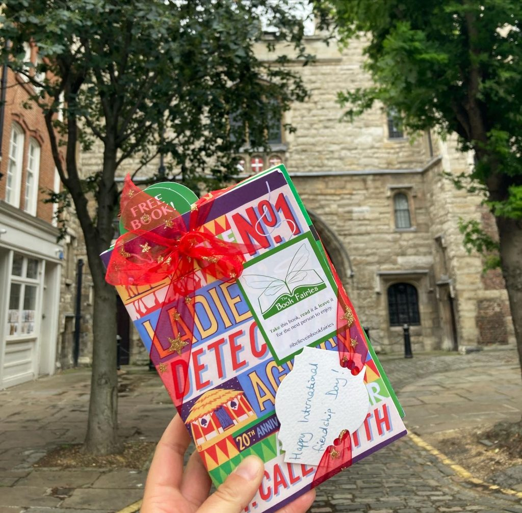 The Book Fairies and Alexander McCall Smith celebrate Friendship Day in central London