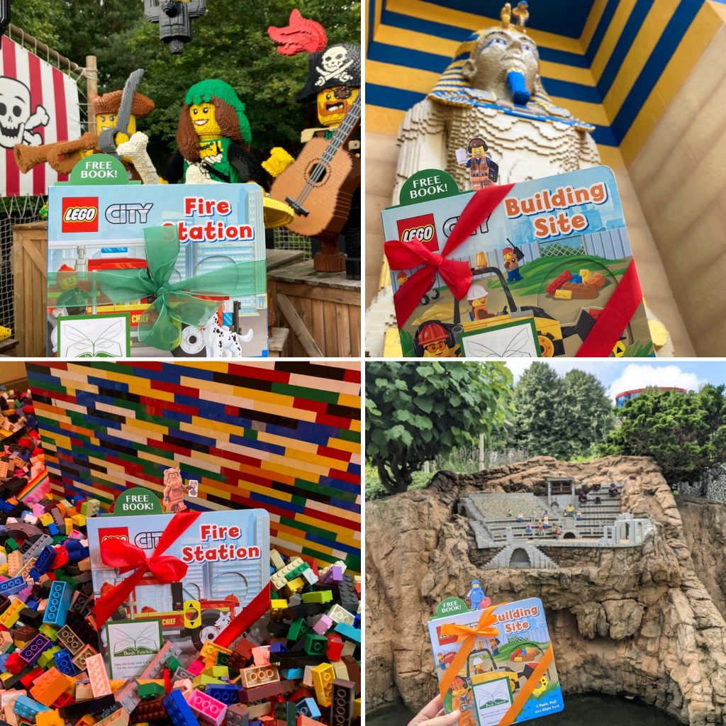 LEGOCity books hidden by book fairies at LEGO locations