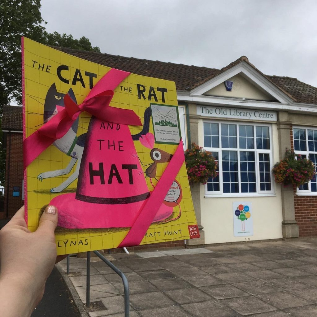 The Cat The Rat And The Hat hidden by book fairies at a library