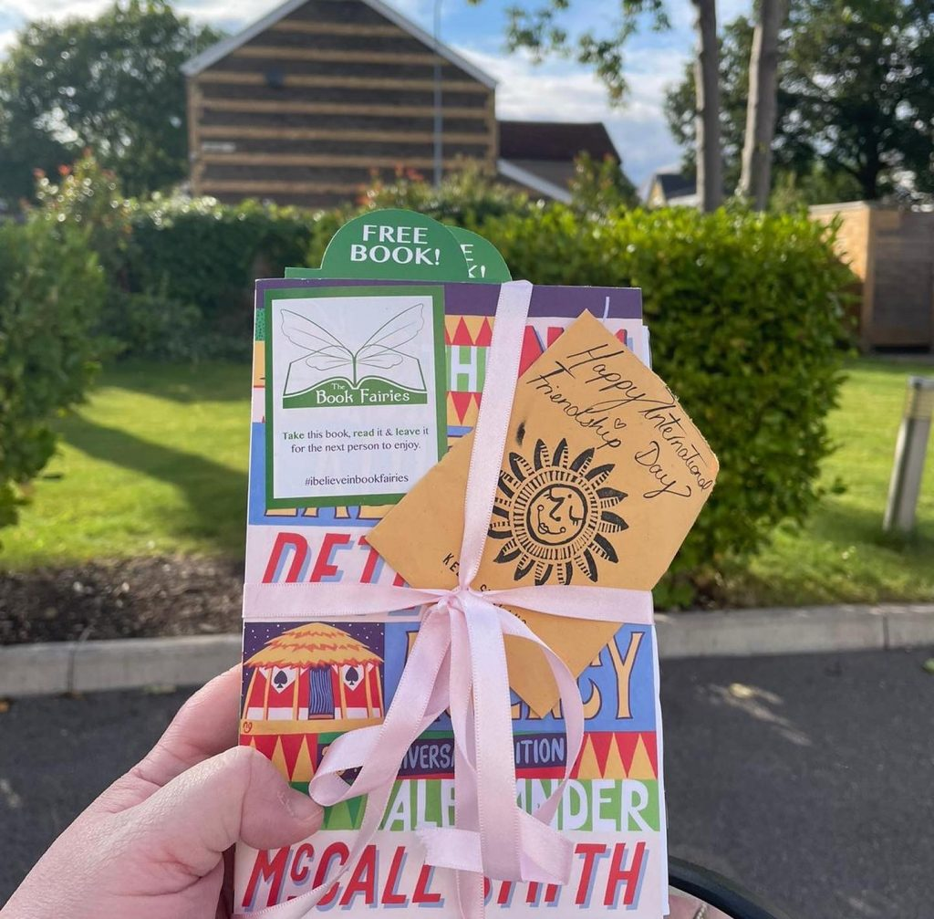 The Book Fairies and Alexander McCall Smith celebrate Friendship Day at a care home
