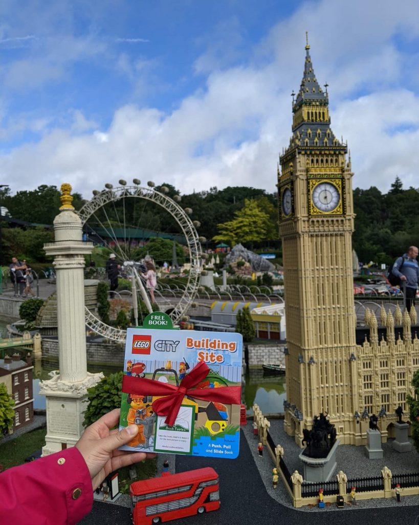 LEGOCity books hidden by book fairies at LEGO locations - miniature London