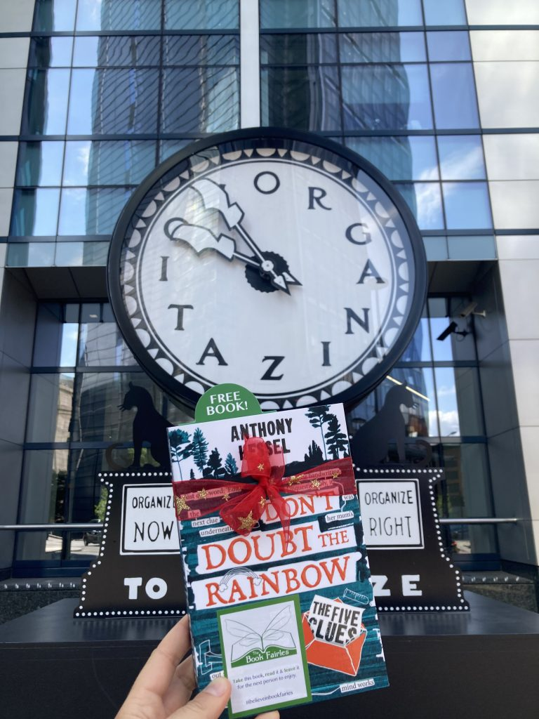 The Five Clues by Anthony Kessel hidden by book fairies London City